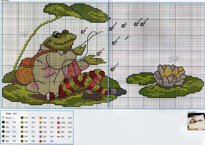 Схема вышивки жаба