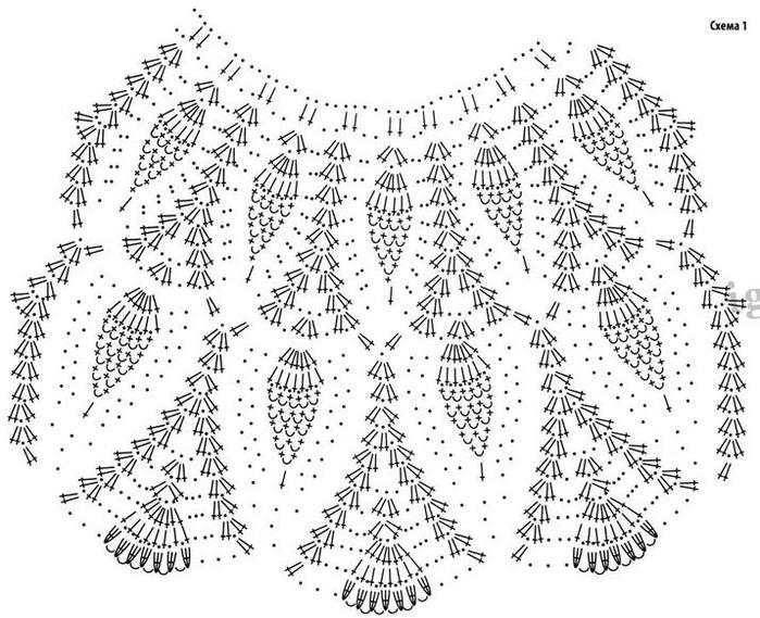 Схема вязания крючком детского платья ананасы