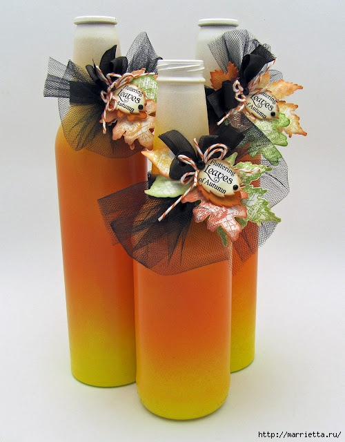 Декоративные винные бутылки своими руками (3) (500x640, 179Kb)