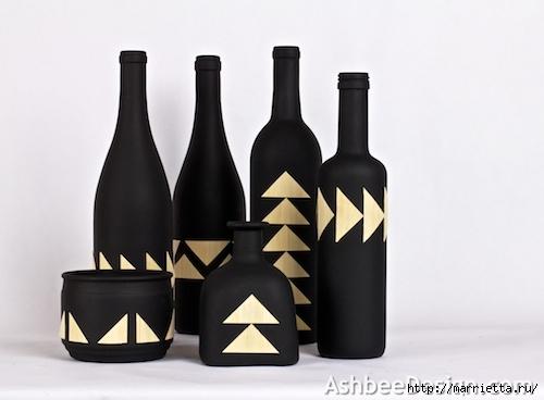 Декоративные винные бутылки своими руками (7) (500x368, 79Kb)