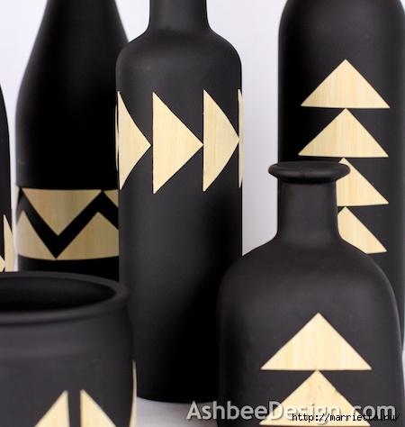 Декоративные винные бутылки своими руками (17) (450x474, 101Kb)