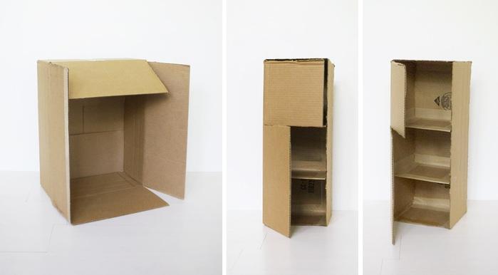 Мебель из коробок как сделать 876