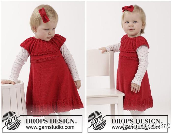 Вязание платья регланом для девочки