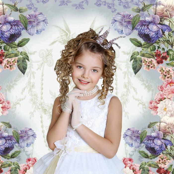 Шаблон детский - Принцесса (700x700, 448Kb)
