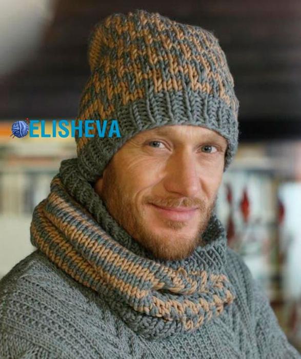 1437569425_shapka-i-snud-vyazanyy-spicami-dlya-muzhchin-shema (587x700, 260Kb)