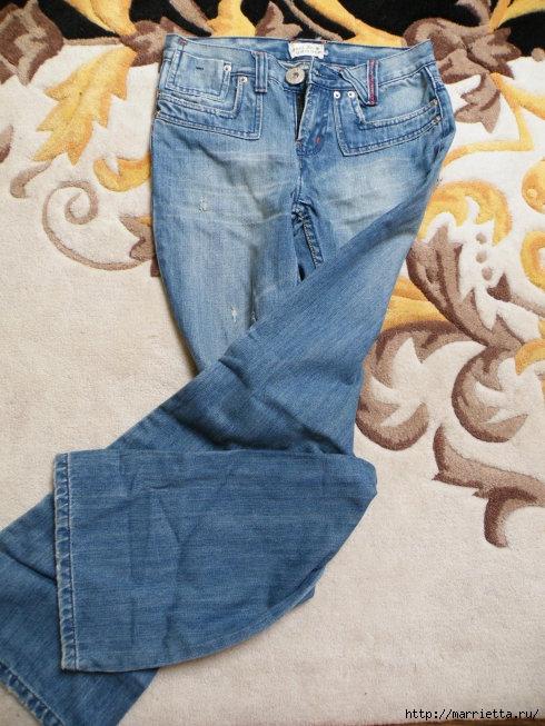Сумка в спортивном стиле из старых джинсов (10) (490x653, 207Kb)