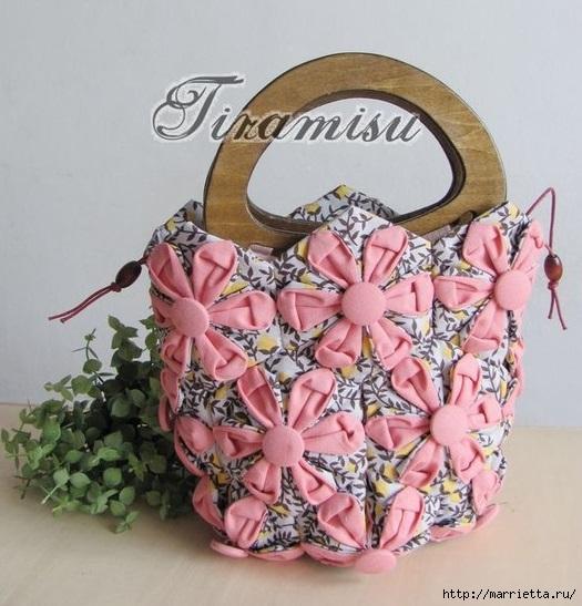 Лоскутная сумочка в технике оригами (4) (525x547, 185Kb)