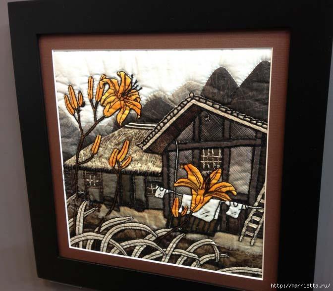 Лоскутное изобразительное искусство от японских мастериц. Часть 1 (7) (672x588, 181Kb)