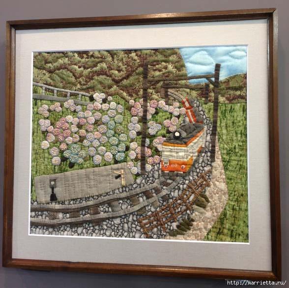 Лоскутное изобразительное искусство от японских мастериц. Часть 1 (11) (588x586, 199Kb)