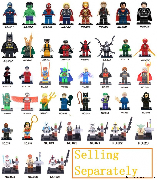 Single Sales Minifigure XH Blocks Super Heroes Avengers Fastic Four Star Wars Ghostbusters MiniFigures Compatible With Lego/5863438_SingleSalesMinifigureXHBlocksSuperHeroesAvengersFasticFourStarWarsGhostbustersMiniFiguresCompatibleWith (611x700, 328Kb)