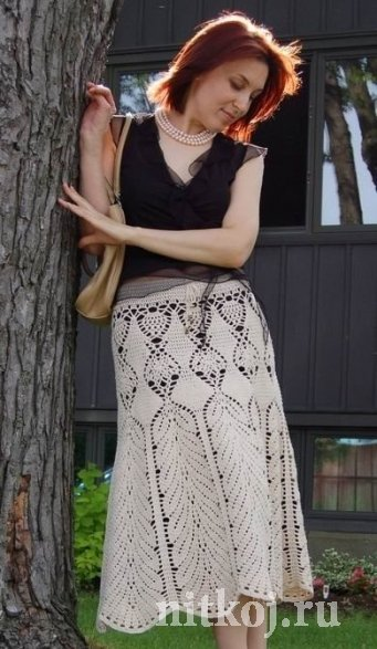 длинная юбка крючком - Самое