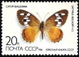 YtSU 5289 ������� ����� 1986 Butterflies ����� ������� Orange Hermit (Satyrus bischoffi) (162x116, 13Kb)