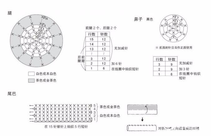 Маленькая собачка амигуруми. Схемы вязания (7) (678x438, 143Kb)
