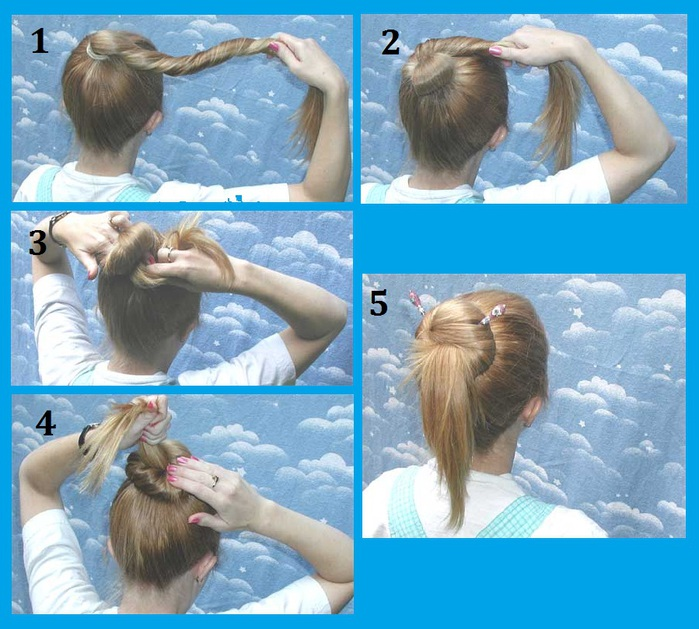 Как сделать прическу с палочками в картинках