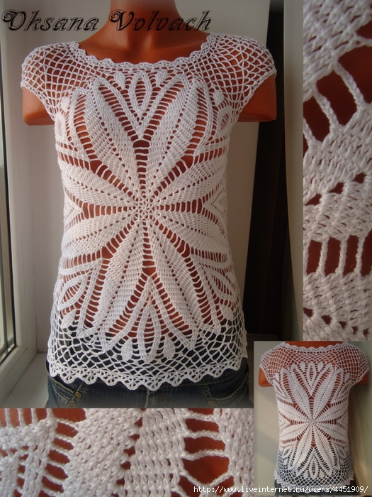 Crochet Xxl Patterns : Crochetpedia: Crochet Shirt Blouse Patterns 2