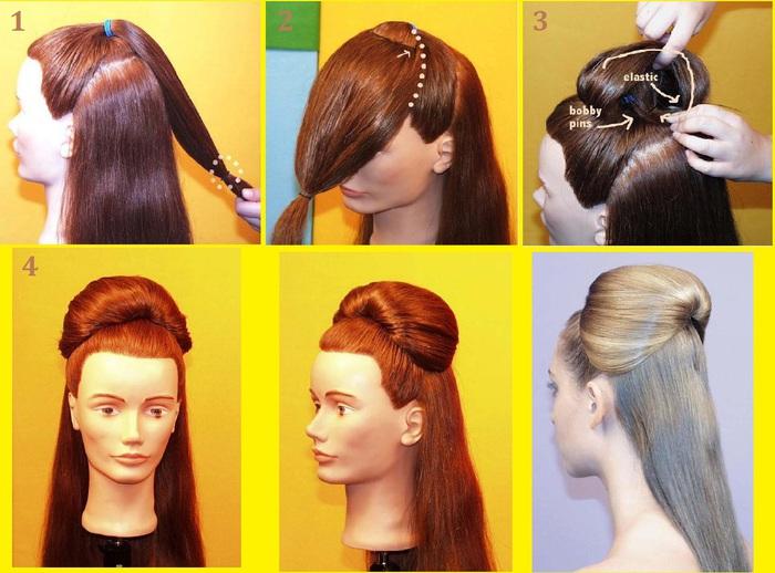 Прически на длинные волосы на 1 сентября с челкой