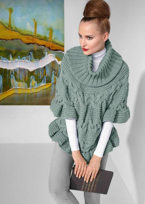 Пуловер-пончо с узором из кос/3199001_poncho_12_1 (497x700, 53Kb)