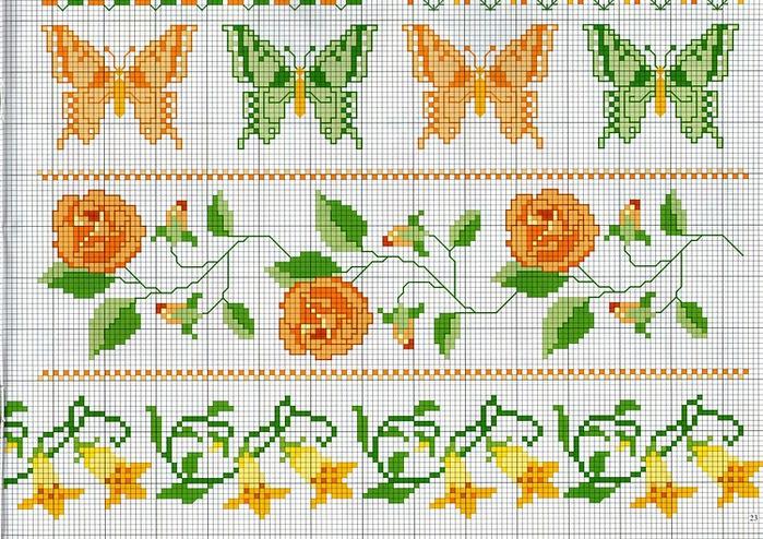 Схема вышивка крестом пасхальных рушников