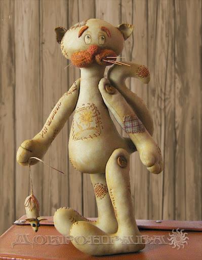 шикарный кот с вышивкой.-добронрава.. (399x512, 64Kb)