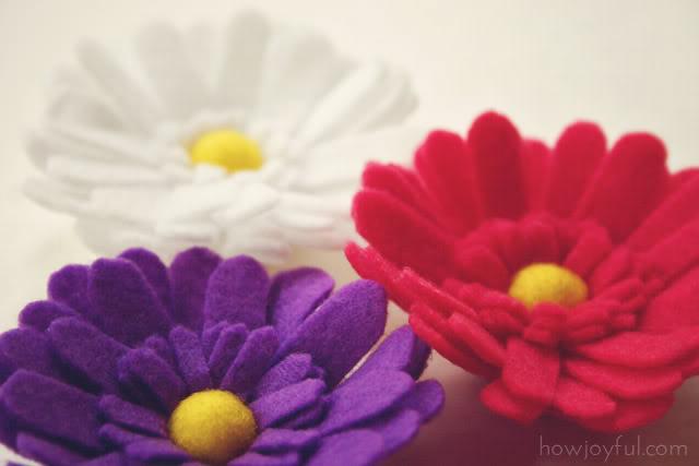 Цветы из фетра от Joy.  Ромашка.  Мастер.