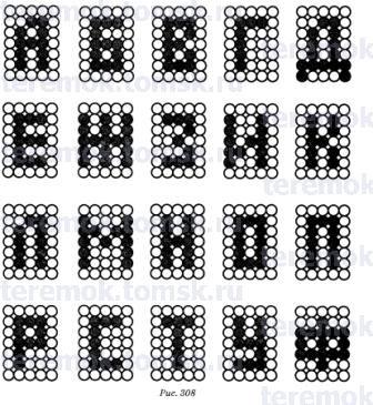 Схемы алфавита бисер.