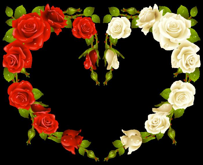 сердце из роз (700x570, 288Kb)
