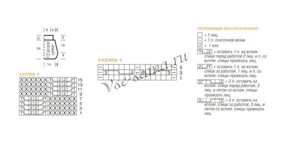 Сумка с дорожками из кос, схема (580x290, 23Kb)
