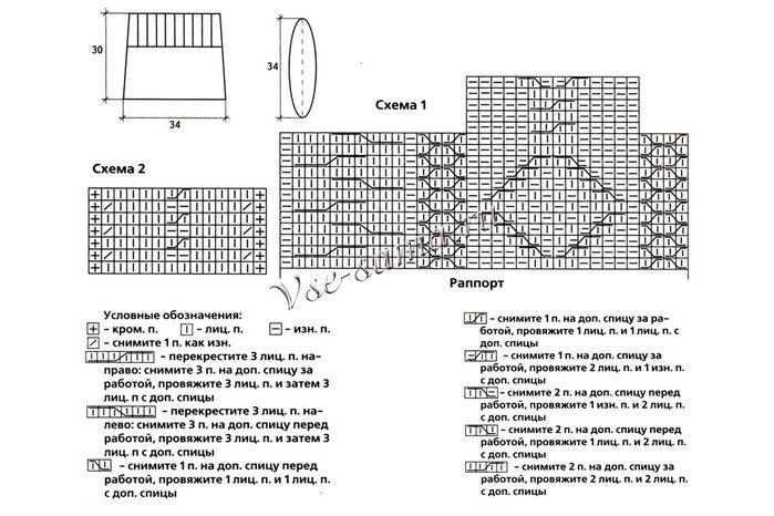Белая сумка с рельефным узором, схема (700x466, 86Kb)
