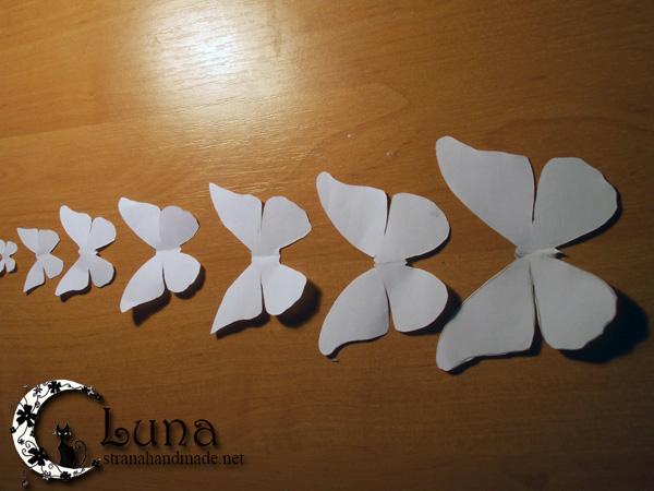 Как сделать бабочек для интерьера из бумаги