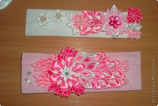 Канзаши мастер класс повязки для девочек 3-7 лет своими руками