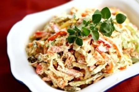 Теплый куриный салат со сладким перцем (448x298, 27Kb)