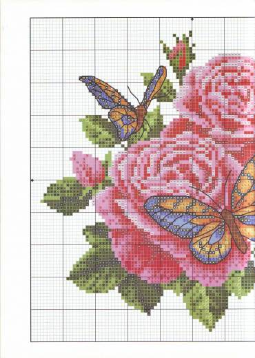 Розы и бабочки идея для