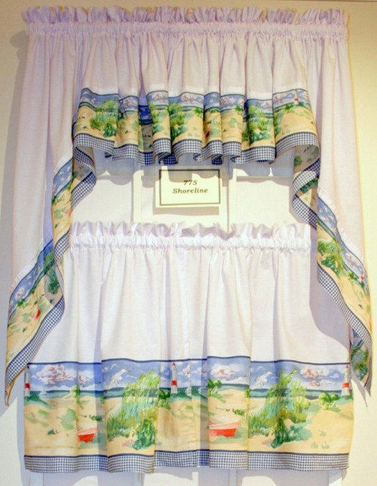 Классические шторы для кухни 12 542x700