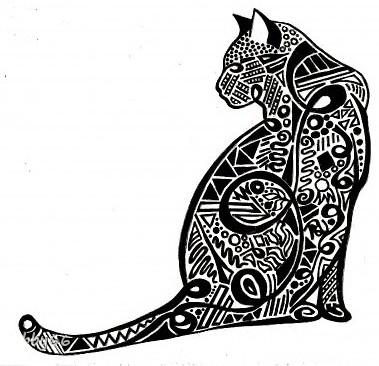 Коты символы рисунок