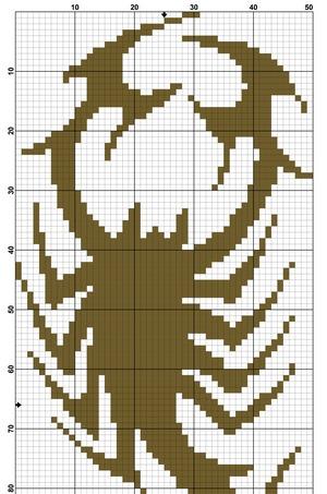 Скорпион монохром схема
