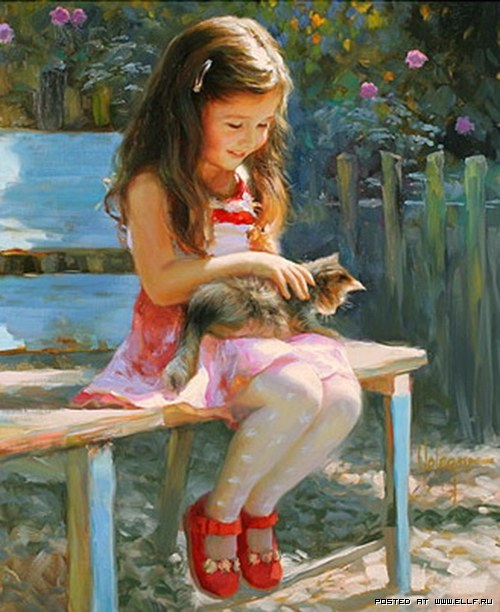 Девочка с кот.на коленях (500x612, 78Kb)