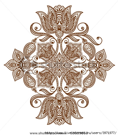 3971977_stockvectorabstractfloralpatternortattoo93039565 (408x470, 175Kb)