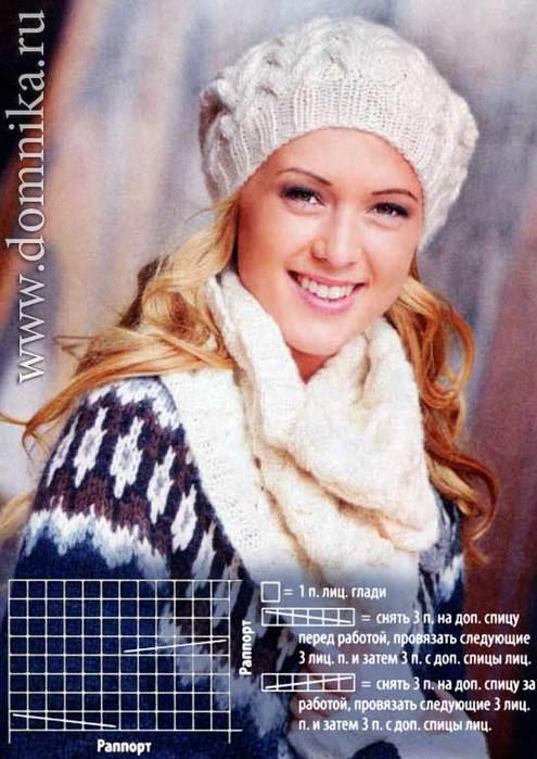 Схемы вязания шапки спицами Для вязания шапки вам потребуется: В общей сложности 50 г пряжи Alpina приспособление для...