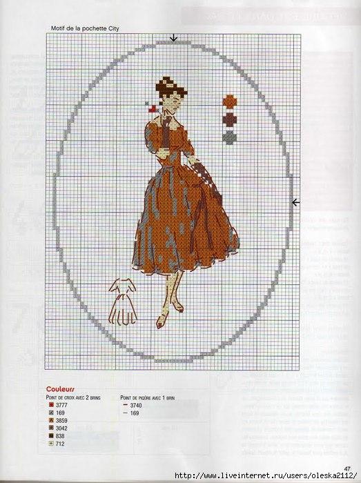 Схема вышивка дамочка
