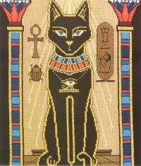 Вышивки египетские кошки