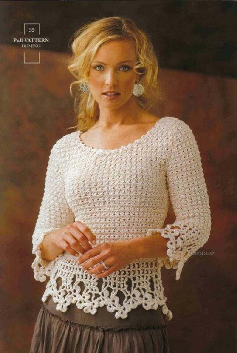 белый пуловер (469x700, 345Kb)