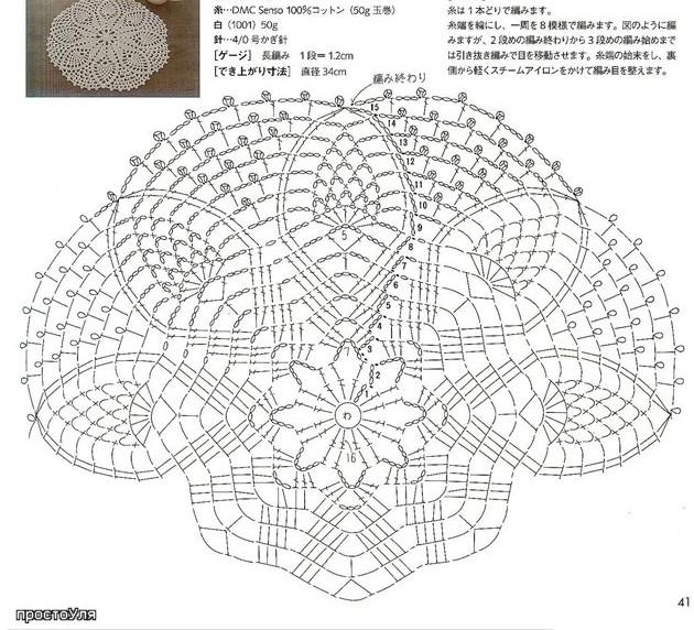 Схемы вязания крючком ажурного летнего берета6