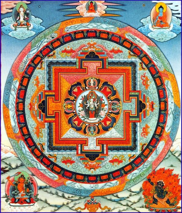 Mandala 1000_arms_eyes_chenrezig_mandala (597x700, 499Kb)