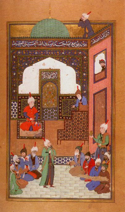 Min - Scene in the Great Mosque at Delhi (1516) (405x685, 77Kb)