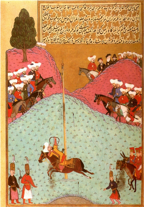 Min - Sultan Murad II at Archery Practice (1584) (489x700, 354Kb)