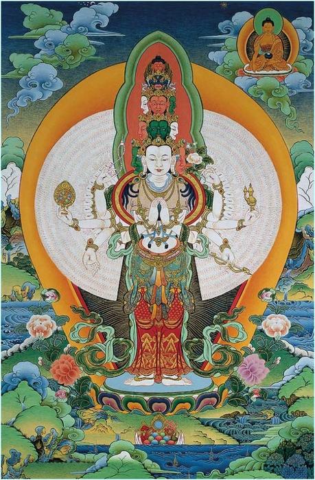 Thangka Avalokiteshvara (459x700, 346Kb)
