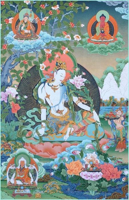 Thangka Bodhisattva Kasarpani (450x700, 326Kb)