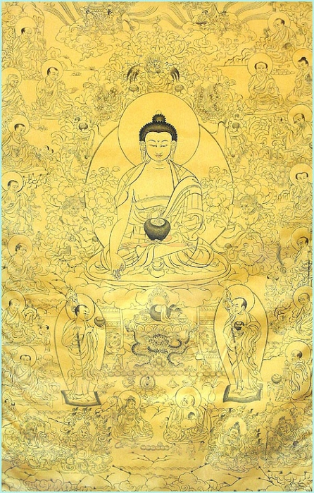 Thangka Buddha and 16 Arhats (446x700, 332Kb)