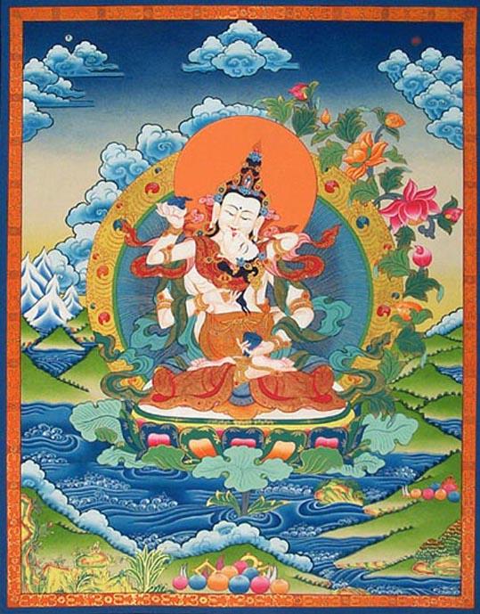 Thangka Dorje-sempa-vajrasattva-yab-yum (539x689, 116Kb)