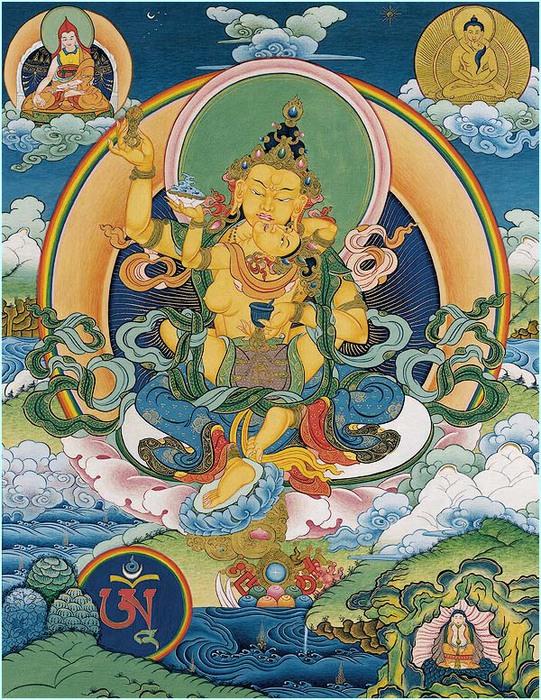 Thangka Nantsog rGyalpo Yab-Yum (541x700, 214Kb)